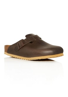 Birkenstock Men's Boston Leather Clog Sandals