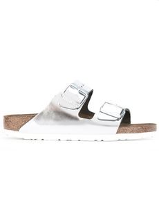 Birkenstock metallic buckled sliders