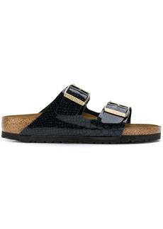 Birkenstock snake-effect double-strap sandals