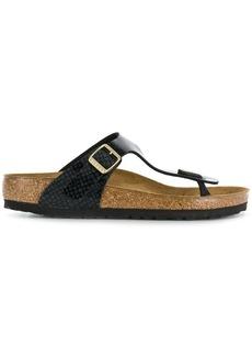 Birkenstock snake-effect sandals