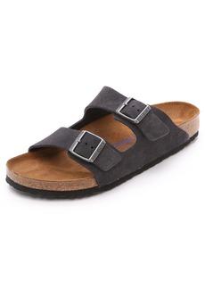 Birkenstock Suede Soft Footbed Arizona Sandals