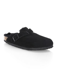 Birkenstock Boston Shearling and Suede Slip-On Clogs