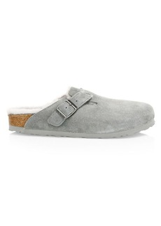 Birkenstock Boston Shearling-Lined Suede Clogs