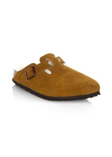 Birkenstock Women's Boston Shearling-Lined Suede Clogs