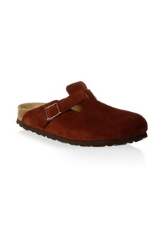 Birkenstock Boston Suede Slip-On Clogs