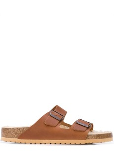 Birkenstock double strap slippers