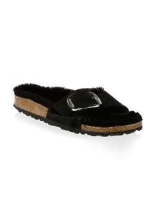 Birkenstock Madrid Shearling & Suede Big Buckle Sandals