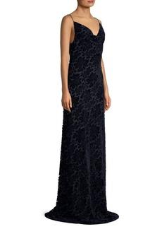 Black Halo Bessette Burnout Velvet Gown