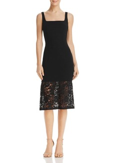 Black Halo Arabelle Lace-Hem Dress