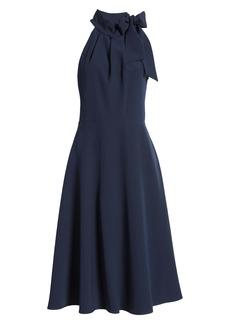 Black Halo Audrey Sleeveless Tie Neck Dress