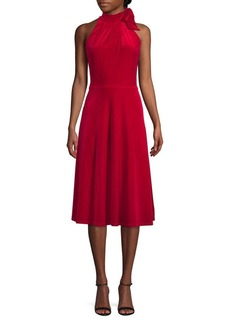 Black Halo Audrey Velvet A-Line Dress
