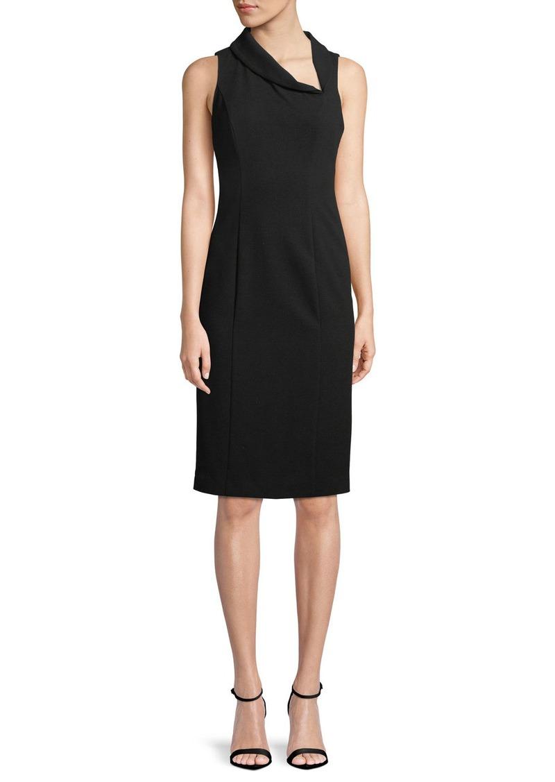 196c5104fc7 Black Halo Blaze Sleeveless Asymmetric Sheath Dress
