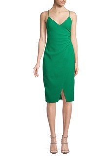Black Halo Bowery Slip Dress w/ Slit