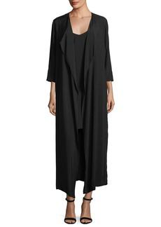 Black Halo Cassini Mini Slip Dress w/ Duster