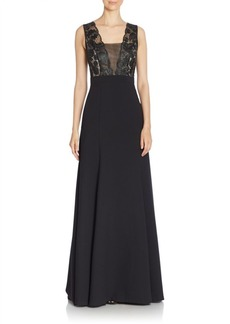 Black Halo Cecilia Sleeveless Solid Gown