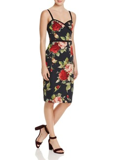 Black Halo Daria Floral-Print Dress
