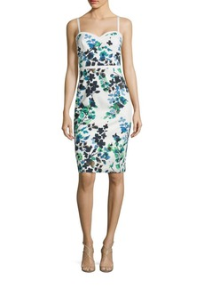 Black Halo Daria Floral-Print Sheath Dress
