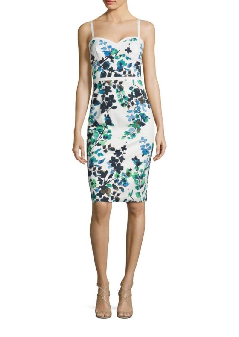 f7626fe53df Black Halo Daria Floral-Print Sheath Dress