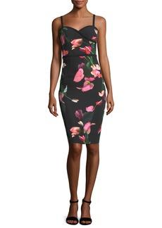 Daria Floral-Printed Sheath Day Dress