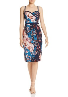Black Halo Daria Floral Scuba Dress