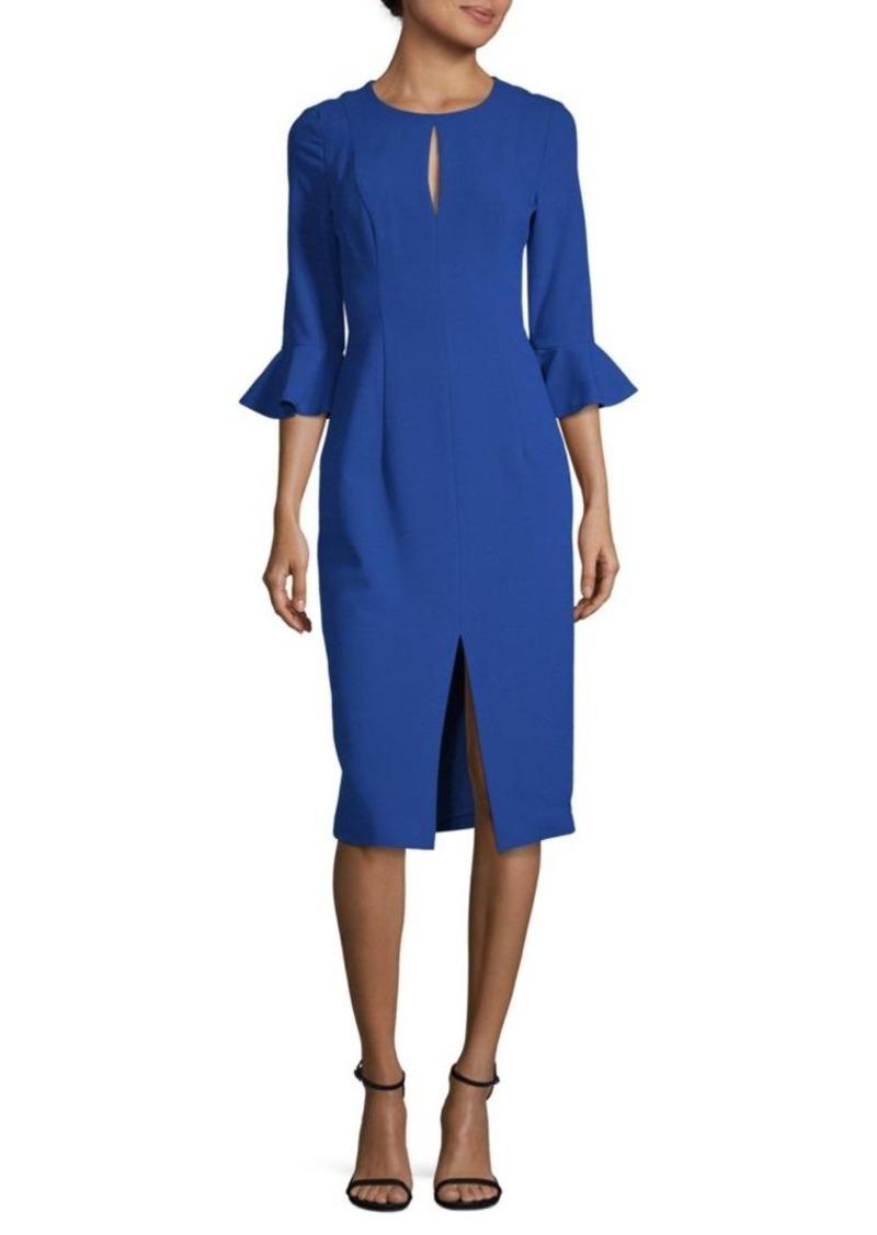 Black Halo Bastian Bell-Cuff Sheath Dress