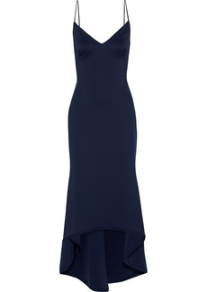 Black Halo Eve By Laurel Berman Woman Armelle Asymmetric Neoprene Gown Navy