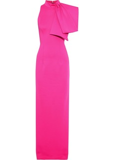 Black Halo Eve By Laurel Berman Woman Iggy Cutout Draped Stretch-cady Gown Bright Pink