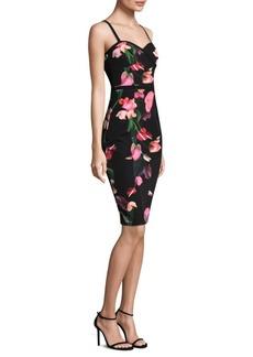 Black Halo Floral Sheath Dress
