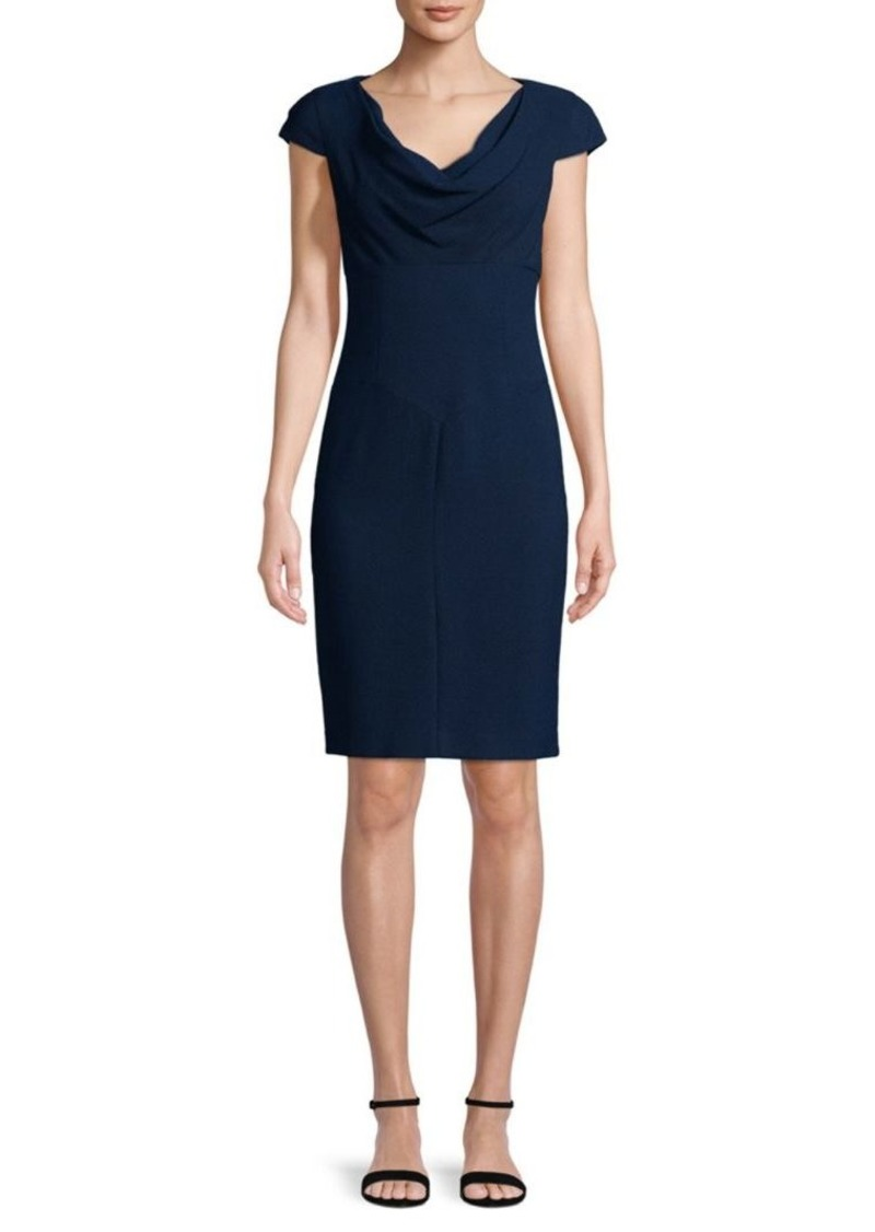 Black Halo Gretchen Draped Sheath Dress