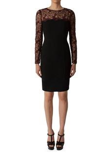 Black Halo Haddy Long Sleeve Sheath Dress
