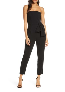 Black Halo Harbor Strapless Jumpsuit