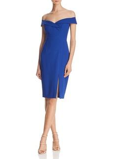 Black Halo Hepburn Off-the-Shoulder Dress