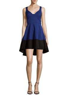 Black Halo Hi-Lo Fit-&-Flare Dress