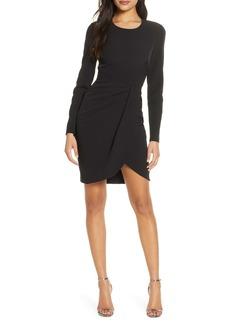 Black Halo Ivana Long Sleeve Sheath Dress