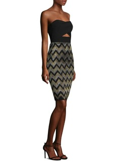 Black Halo Jada Detailed Sheath Dress