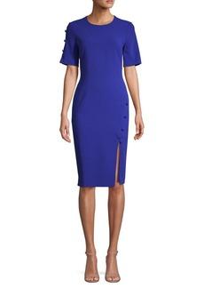 Black Halo Joanna Button Sheath Dress