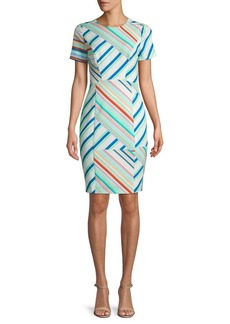Black Halo Jodee Striped Sheath Dress