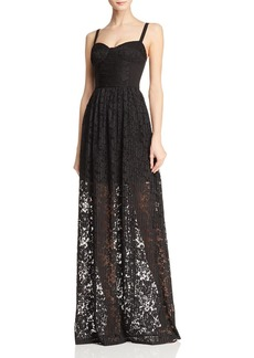 Black Halo Joliette Illusion Lace Gown