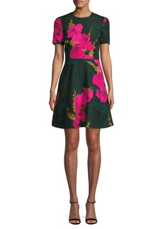 Black Halo Kaitlyn Floral Short-Sleeve Dress