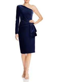 Black Halo Karmina One-Shoulder Velvet Dress