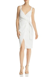 Black Halo Lucille Faux-Wrap Dress - 100% Exclusive