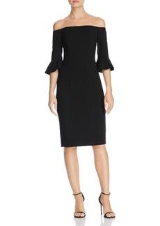 Black Halo Madigan Off-the-Shoulder Dress