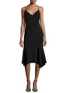 Black Halo Malik Handkerchief-Hem Cocktail Slip Dress