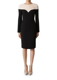 Black Halo Marla Colorblock Sheath Dress