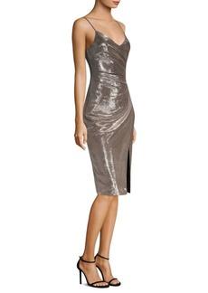 Black Halo Metallic Sheath Dress