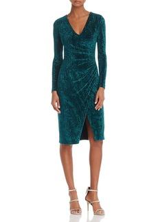Black Halo Miramar Velvet Faux-Wrap Dress