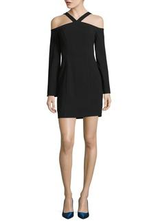 Black Halo Octavia Cold Shoulder Mini Dress