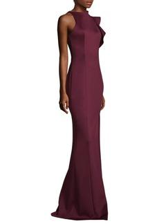 Black Halo Pabla Front High Slit Floor-Length Sheath Gown
