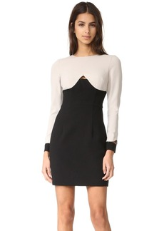 Black Halo Pia Colorblock Mini Dress