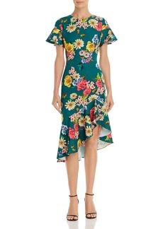 Black Halo Reelle Floral Ruffle Dress